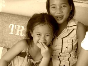 Two girls at the Ca Mau Orphanage